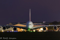 A6-EOF Airbus A380 Emirates Glasgow airport EGPF 03.05-19 (rjonsen) Tags: plane airplane aircraft aviation airliner airside tripod long exposure
