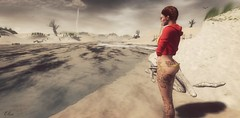 Sky And Sand (Lil' Mersereau) Tags: beach storm girl portrait tattoo redfish water anaposes