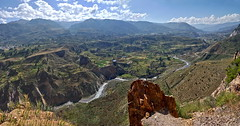 Spectacular panorama (Chemose) Tags: vallée valley colca montagne mountain canyon terrasse terrace agricole agriculture agricultural landscape paysage andes rivière rio river pérou peru sony ilce7m2 alpha7ii avril april hdr