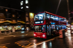 home time (Paul Wrights Reserved) Tags: panning bus london walthamstow chingford busroute night nightphotography nighttime sony rx100 rx100v slow londonstreets londonbus londonbuses longexposure