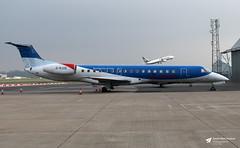 G-RJXE Embraer ERJ-145EP, Loganair, Lulsgate Bottom, Somerset (Kev Slade Too) Tags: grjxe embraer erj145 loganair flyingcentre eggd bristolairport lulsgatebottom somerset