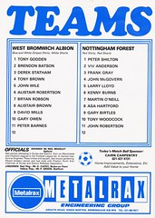 West Bromwich Albion vs Nottingham Forest - 1979 - Page 10 (The Sky Strikers) Tags: west bromwich albion wba brom nottingham forest football league division one the hawthorns official news and matchday magazine 30p