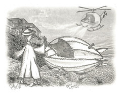 Beach Landing (rod1691) Tags: myart art sketchbook bw scfi grey concept custom car retro space hotrod drawing pencil h2 hb original story moonpie fantasy funny tale automotive illustration greyscale moonpies sketch sexy voodoo