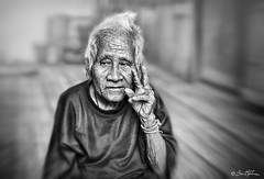 Victory - Ben Heine Photography (Ben Heine) Tags: portrait sick asia victory doctor papy legacy hand disease male japanese age life testament victorysign isolated smile lifestyle chin grandpa asian hair cute whitehair face senior old people person elderly aged elder head victoryfingers afterlife good medicine man chinese looking sad grandfather china retired camera wrinkle viagra adult oriental happy men