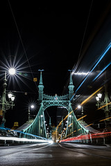 Liberty Bridge & Light Trail (BisonAlex) Tags: europe 歐洲 sony a73 a7iii a7m3 a7 taiwan 台灣 外拍 旅拍 travel 街拍 street streetphoto streetshot hungary budapest 匈牙利 布達佩斯