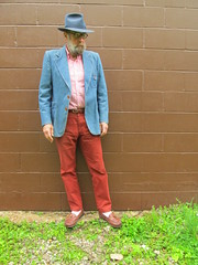 5-18-2019 Today's Clothes (Michael A2012) Tags: this mans spring style vintage fashion jc penneys marathon fedora hat fur felt lands end supima cotton american collection his denim banana republic emerson chino gokey orvis camp moccasin