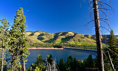 Vallecito Reservoir, Colorado (GSB Photography) Tags: vallecito reservoir durango colorado america usa unitedstates americanwest mountain hills valley sunlight rocks trees foliage dam sky clouds ridge water lake vista view nature landscape nikon 7200 forest