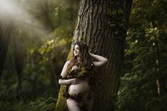 717A5742 (L.Bouillon Photography) Tags: foret forest nature grossesse mère pregnant nue nude bois vert arbres feuille