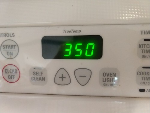 Oven preheated to 350 Degrees Fahrenheit