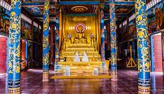 2019 - Cambodia - Sihanoukville - Wat Krom - 6 of 6 (Ted's photos - Returns late November) Tags: 2019 cambodia cropped nikon nikond750 nikonfx tedmcgrath tedsphotos vignetting buddha goldenbuddha watintnhean watintnheansihanoukville sihanoukvillewatintnhean watintnheancambodia cambodiawatintnhean watkrom watkromsihanoukville sihanoukvillewatkrom watkromcambodia cambodiawatkrom sihanoukville sihanoukvillecambodia columns goldbuddha