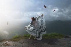 The Dreamer (R. Keith Clontz) Tags: conceptualart dreamy environmentalportrait linvillegorge northcarolina keithclontz leahspitz birds flying dreamscape butterfly portrait story sunlight cinematic escape