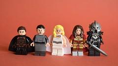 Fire and Blood (th_squirrel) Tags: lego game thrones tv got lyanna mormont littlefinger petyr baelish daenerys targaryen jaqen hghar mountain gregor clegane minifig minifigure minifigs minifigures