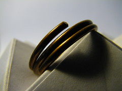 Finger ring. HMM (Vallø) Tags: macro metal closeup denmark indoor jewelry inside danmark vallø 2019 white hvid dof paper copper macromondays shadow 5faves 10faves 15faves 20faves 500views 25faves 1000views fingerring