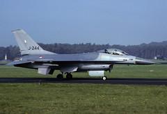 F-16A J-244 - cn - RNethAF 322Sqn 000000 Soesterberg (Nikon Photographer NL) Tags: rnethafnavy military dutch nederlands aviation