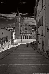 Toward the cathedral (A look through lens) Tags: on1effects streetlife architecture belltower cathedral church city cityscape environment europe italy landscape lightroom location people photomatix plugin street streetphotography streetview tonemapping umbria urban urbanlife urbanphotography urbanview urbanscape spoleto italia