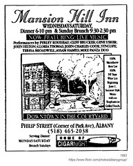 1993 mansion hill inn (albany group archive) Tags: ny history albany 1993 mansion hill inn restaurant philip street 1990s little italy old albay vintage picture photo photograph historical historic