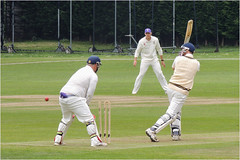 138.2 'Bowled him' (Dominic@Caterham) Tags: cricket players wicket pitch ball stumps