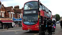 London General WHV27 on route 280 Tooting 18/05/19. (Ledlon89) Tags: bus buses london transport tfl londonbus londonbuses wrightbus