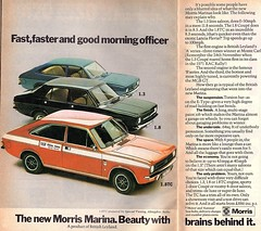 1972 ADVERT - THE NEW MORRIS MARINA (Midlands Vehicle Photographer.) Tags: 1972 advert the new morris marina