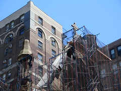 2019 Trinity Chapel Church Rebuilding after 2016 Fire 8556 (Brechtbug) Tags: 2019 trinity chapel complex church ruin from fire 05032016 may 3rd 2016 located flatiron district 15 west 25th street between broadway avenue americas 6th 05182019 constructed 185055 was designed by architect richard upjohn english gothic revival style gutted ruins nyc urban new york city manhattan later named serbian orthodox cathedral st sava saint bust nikola tesla stands outside