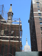 2019 Trinity Chapel Church Rebuilding after 2016 Fire 8568 (Brechtbug) Tags: 2019 trinity chapel complex church ruin from fire 05032016 may 3rd 2016 located flatiron district 15 west 25th street between broadway avenue americas 6th 05182019 constructed 185055 was designed by architect richard upjohn english gothic revival style gutted ruins nyc urban new york city manhattan later named serbian orthodox cathedral st sava saint bust nikola tesla stands outside