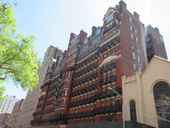 2019 Chelsea Hotel - 222 West 23rd Street NYC 8656 (Brechtbug) Tags: 2019 chelsea hotel reopening month or 222 west 23rd street between 7th 8th avenues nyc 05182019 new york city architecture sign signs built 1884 1885 twelvestory redbrick building that is now was one citys first private apartment cooperatives designed by philip hubert style described queen anne revival victorian gothic features include flower ornamented iron balconies facade grand staircase it tallest