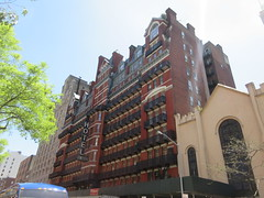 2019 Chelsea Hotel - 222 West 23rd Street NYC 8654 (Brechtbug) Tags: 2019 chelsea hotel reopening month or 222 west 23rd street between 7th 8th avenues nyc 05182019 new york city architecture sign signs built 1884 1885 twelvestory redbrick building that is now was one citys first private apartment cooperatives designed by philip hubert style described queen anne revival victorian gothic features include flower ornamented iron balconies facade grand staircase it tallest