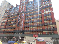2019 Chelsea Hotel - 222 West 23rd Street NYC 8651 (Brechtbug) Tags: 2019 chelsea hotel reopening month or 222 west 23rd street between 7th 8th avenues nyc 05182019 new york city architecture sign signs built 1884 1885 twelvestory redbrick building that is now was one citys first private apartment cooperatives designed by philip hubert style described queen anne revival victorian gothic features include flower ornamented iron balconies facade grand staircase it tallest