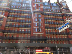 2019 Chelsea Hotel - 222 West 23rd Street NYC 8645 (Brechtbug) Tags: 2019 chelsea hotel reopening month or 222 west 23rd street between 7th 8th avenues nyc 05182019 new york city architecture sign signs built 1884 1885 twelvestory redbrick building that is now was one citys first private apartment cooperatives designed by philip hubert style described queen anne revival victorian gothic features include flower ornamented iron balconies facade grand staircase it tallest