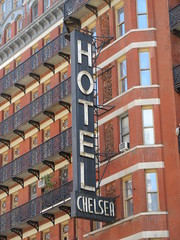 2019 Chelsea Hotel - 222 West 23rd Street NYC 8669 (Brechtbug) Tags: 2019 chelsea hotel reopening month or 222 west 23rd street between 7th 8th avenues nyc 05182019 new york city architecture sign signs built 1884 1885 twelvestory redbrick building that is now was one citys first private apartment cooperatives designed by philip hubert style described queen anne revival victorian gothic features include flower ornamented iron balconies facade grand staircase it tallest