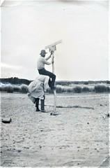 Where's a ladder? - 1934 (Aussie~mobs) Tags: 1934 australia vintage victoria sign unusual men