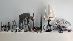 My Lego Star Wars Collection (Edge of Bricks) Tags: lego star wars collection atm6 atst tie fighter command shuttle imperial lambda set moc design edge bricks first order millennium falcon modification 2019