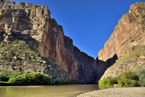 A Canyon and River to Separate the Two Countries and Create a Border (Big Bend National Park)