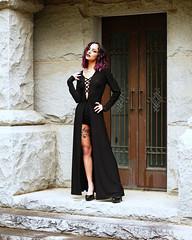 img_4202 (steevithak) Tags: cemetery modeling model blackdress purplehair blacklips darkbeauty graveyard greenwoodcemetery dallas texas tx