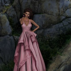 She stands on the rocks over looking the sea... (parisevermore) Tags: ghee senseevent designershowcase cazimiappledbeauty dulcesecrets stealthic chopzuey freya maitreya hourglass physique jewelry fashion secondlifeevents