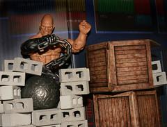 Wrecking It (danlogan49) Tags: absorbing man wrecking ball blocks stone concrete crates wood pier cargo hasbro marvel
