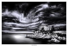 I'm Gonna Leave You... (michel di Méglio) Tags: mer sea seascape bw nikon cloud nuages monochrome marseille siverefexpro noiretblanc