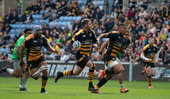 Willie Le Roux leading the attack (davidhowlett) Tags: ricoharena quins wasps premiership waspsrugby gallagher rugbyunion ricoh rugby coventry harlequins