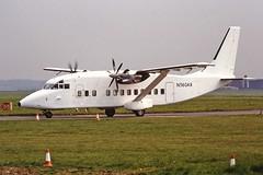N360AR Short 360 Air Atlantique CVT 04-93 (cvtperson) Tags: n360ar short 360 air atlantique coventry airport cvt egbe