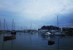 A cloudy day (born to be an artist) Tags: calmness tranquility safe harbor greece sailboats bluehour sea port