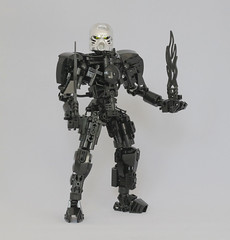 Somna (Ron Folkers) Tags: lego bionicle technic system moc hau silver black chrome flame