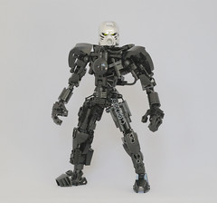 Somna (Ron Folkers) Tags: lego bionicle technic system moc black silver chrome flame hau