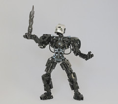 Somna (Ron Folkers) Tags: lego bionicle technic moc system silver black chrome flame hau
