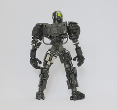 Somna (Ron Folkers) Tags: lego bionicle technic moc black silver chrome hau flame system