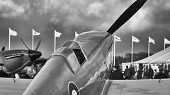Spitfire (Bernie Condon) Tags: vickers supermarine spitfire warplane fighter raf royalairforce fightercommand ww2 battleofbritian military preserved vintage aircraft plane flying aviation uk british shuttleworth collection oldwarden airfield airshow display