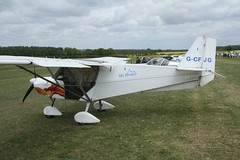 G-CFJG (IndiaEcho) Tags: gcfjg skyranger 912 eghp popham airport airfield light general civil aircraft aeroplane aviation basingstoke hampshire england canon eos 1000d microlight fly in