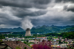 stormy weather (Guy Goetzinger) Tags: nuclear plant gösgen switzerland jura goetzinger nikon d850 landscape weather clouds cloudy meteo