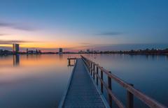 Deep Water Jetty, Perth (Sunset) (jooolian.c) Tags: sunset landscape jetty river perth australia landscapes beautiful longexposure water reflections autumn urban