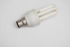 Energy saving light bulb isolated against white background (Rushay) Tags: bulb electricity background energy white portelizabeth southafrica