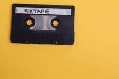 Cassette with mixtape written isolated against yellow background (Rushay) Tags: cassette copyspace retro vintage isolated music mixtape tape portelizabeth southafrica